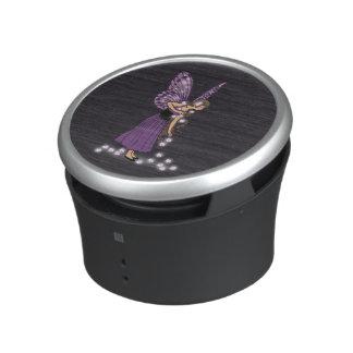 Glowing Star Flowers Pretty Purple Fairy Girl Bluetooth Speaker