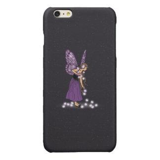 Glowing Star Flowers Pretty Purple Fairy Girl iPhone 6 Plus Case