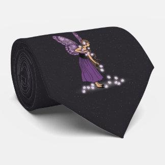 Glowing Star Flowers Pretty Purple Fairy Girl Tie