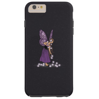 Glowing Star Flowers Pretty Purple Fairy Girl Tough iPhone 6 Plus Case