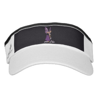Glowing Star Flowers Pretty Purple Fairy Girl Visor