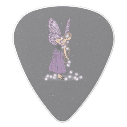 Glowing Star Flowers Pretty Purple Fairy Girl White
