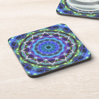 Glowing Star Kaleidoscope Drink Coaster