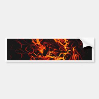 Glowing steel wool bumper sticker