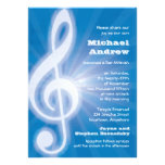 Glowing Treble Clef Bar-Bat Mitzvah Personalized Invites