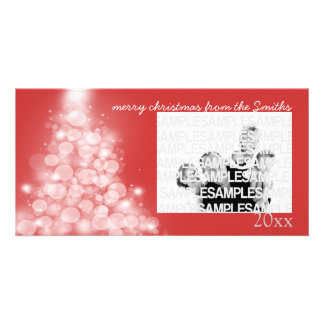 """Glowing Tree"" Annual Family Christmas Card Photo Cards"