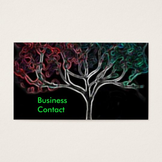 Glowing tree business card