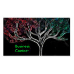 Glowing tree pack of standard business cards