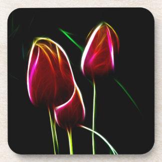 Glowing tulips coaster