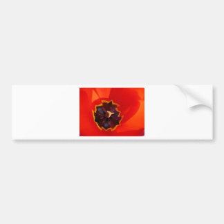 Glowing ultra-red tulip bumper sticker