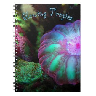 Glowing Undersea Coral Notebook