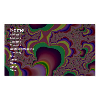 Glowing worm tube fractal pack of standard business cards