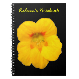 Glowing Yellow Nasturtium Customizable Notebook