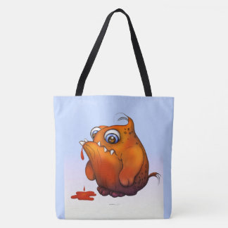 GLUP ALIEN MONSTER ALIEN CARTOON TOTE BAG