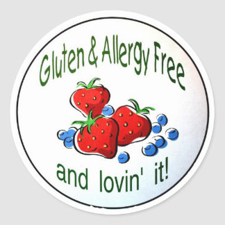 'Gluten and Allergy Free...' Stickers
