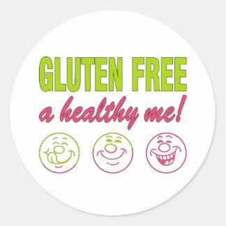 Gluten Free A Healthy Me! Gluten Allergy Celiac Classic Round Sticker