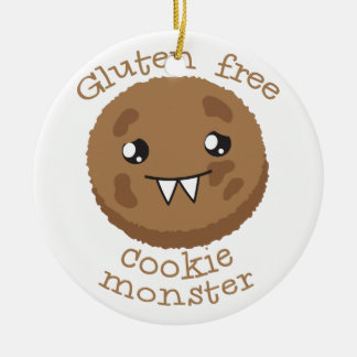 Gluten free cookie monster christmas ornament