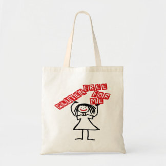 Gluten Free For Me Cartoon Budget Tote Bag
