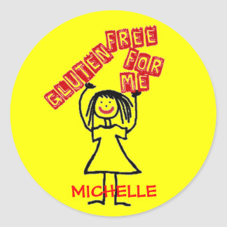Gluten Free For Me Daycare Safety Classic Round Sticker