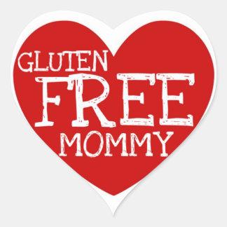 Gluten Free Mommy Heart Heart Sticker