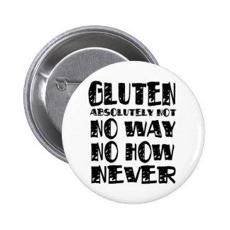 Gluten Free No Way No How Never 6 Cm Round Badge