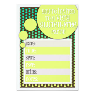 Gluten Free Party Invitation