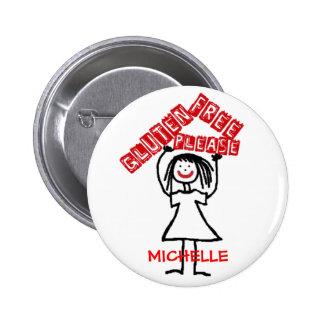 Gluten Free Please Child Cartoon 6 Cm Round Badge
