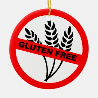 Gluten Free Round Ceramic Decoration