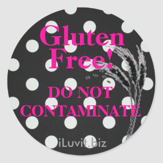 GLUTEN FREE Sticker  for Celiac Disease