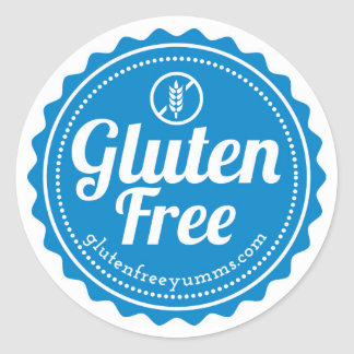 Gluten-Free Stickers / Gluten Free with Icon -Blue