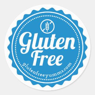 Gluten-Free Stickers / Gluten Free with Icon -Blue