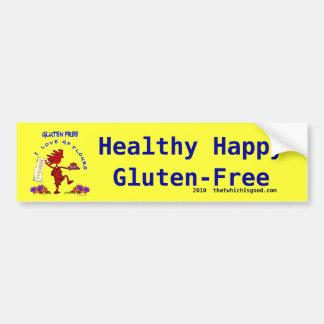 Gluten-Free Whimsical Design Bumper Sticker