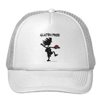 Gluten-Free Whimsy Silhouette Design Trucker Hats