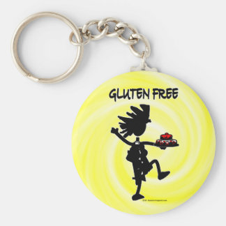 Gluten-Free Whimsy Silhouette Design Key Chain