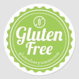 Gluten Free with Icon Stickers - Green