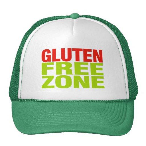 Gluten Free Zone (celiac disease) Hats