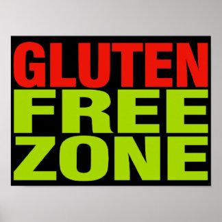 Gluten Free Zone (celiac disease) Poster