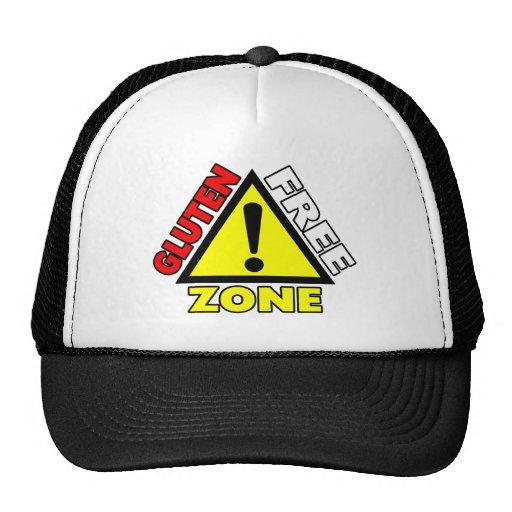 Gluten Free Zone (celiac disease - wheat allergy) Trucker Hats