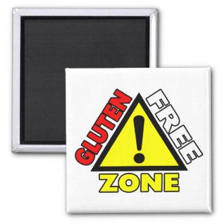 Gluten Free Zone (celiac disease - wheat allergy) Magnet