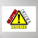 Gluten Free Zone (celiac disease - wheat allergy) Poster