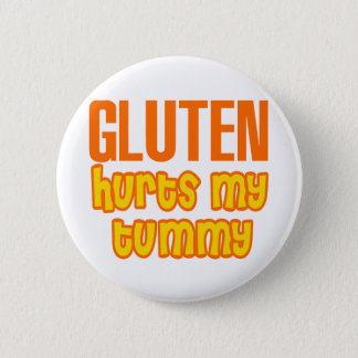 Gluten Hurts My Tummy 6 Cm Round Badge