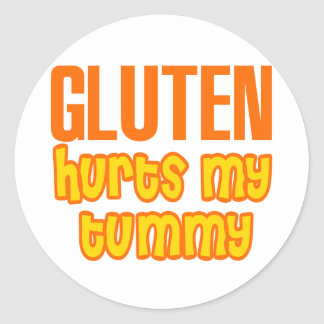 Gluten Hurts My Tummy Classic Round Sticker