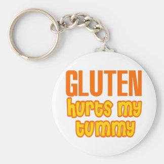 Gluten Hurts My Tummy Key Ring