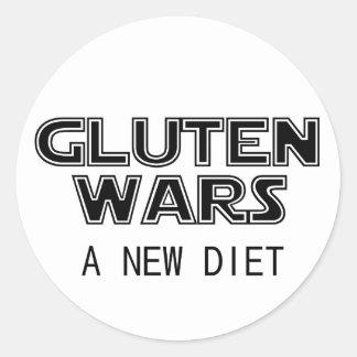Gluten Wars: A New Diet Celiac Gluten Free Round Sticker