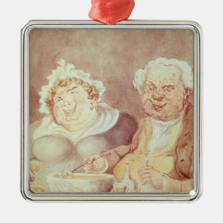 Gluttons, c.1800-05 christmas ornament