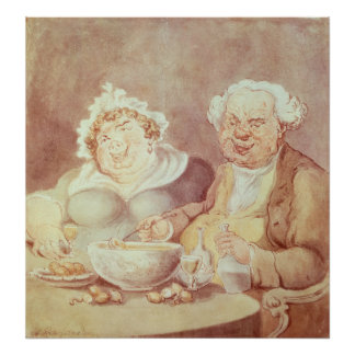 Gluttons, c.1800-05 poster