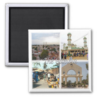 GM * Gambia Square Magnet