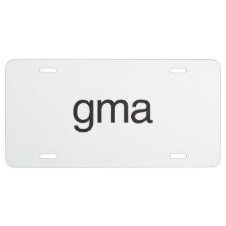 gma ai license plate