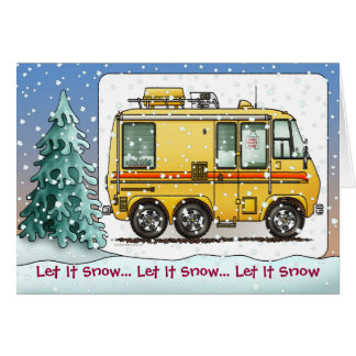 GMC Motor Home Camper RV Holiday Cards