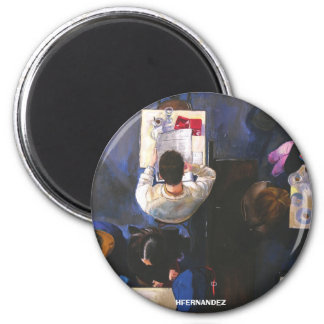GMinteriordecafe, HFERNANDEZ 6 Cm Round Magnet